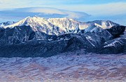 Great Sand Dunes National Park Photos - Dusting Of Snow by Adam Jewell