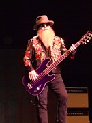 New Jersey Musician Framed Prints - Dusty Hill on Bass Framed Print by John Telfer