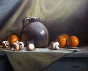 Tangerines Prints - Dusty Jug Print by Viktoria K Majestic