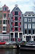 Amsterdam Photos - Dutch Canal House by Thomas Marchessault