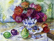 Loose Paintings - Dutch Dahlia Delights by Cynthia Pride