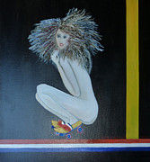 Rollerskate Paintings - Dutch Diva by Thea  Roelofs