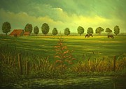 Andries Hartholt - Dutch farm in autumn