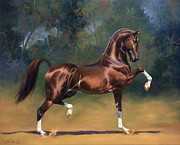 Trotting Art - Dutch Harness Horse Saffraan by Jeanne Newton Schoborg