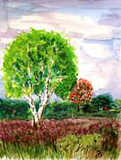 Netherlands Paintings - Dutch Heath by Jutta B