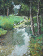Stream Pastels Originals - Dutch Mills Creek-Study by Julie Mayser