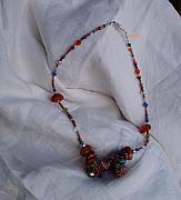 Gemstones Jewelry Jewelry - Dutch Spiral Necklace With Stones Beads by Nurit Schlomi von-strauss