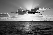 Lancasters Posters - Duty bound black and white version Poster by Gary Eason