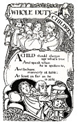 Kids Books Metal Prints - DUTY of CHILDREN  1895 Metal Print by Daniel Hagerman