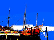Duyfken 1606 In Fremantle Print by Roberto Gagliardi
