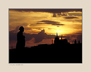 Prague Digital Art Framed Prints - Dvorak and Skyline Framed Print by Pedro L Gili
