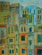 Portugal Art Paintings - Dwellings by Oscar Penalber
