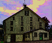General Dwight D Eisenhower Metal Prints - Dwight D. Eisenhower Barn In Gettysburg In Draw Form Metal Print by Amazing Photographs AKA Christian Wilson
