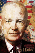 Dwight D. Eisenhower Print by Corporate Art Task Force