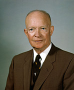 General Dwight D Eisenhower Digital Art Posters - Dwight D. Eisenhower Poster by Nomad Art And  Design