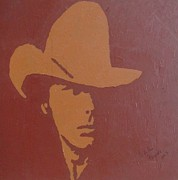 Country Western Paintings - Dwight Yoakam by Darlene Fernald