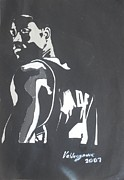 Kobe Bryant Mixed Media Prints - Dwyane Wade Print by Valdengrave Okumu
