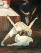 Ballet Dancers Paintings - Dying Swan by Podi Lawrence