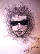 Bob Dylan Art - Dylan Alive and Well by Cheryl Andrews