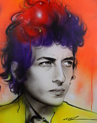 Musician Paintings - Dylan by Christian Chapman Art