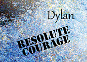 Inspirational Metal Prints - Dylan - Resolute Courage Metal Print by Christopher Gaston