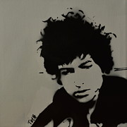 Bob Dylan Painting Originals - Dylan Spray Art by Laura Toth