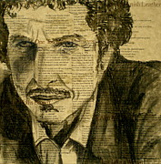 Songwriter Mixed Media Posters - Dylan the Poet Poster by Debi Pople