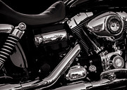 Chrome Framed Prints - Dyna Super Glide Custom Framed Print by Bob Orsillo