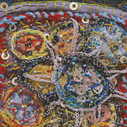 Biology Tapestries - Textiles Framed Prints - Dynacell detail Framed Print by Christine Sauer