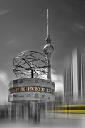 Europe Digital Art Metal Prints - Dynamic-Art BERLIN City-Centre Metal Print by Melanie Viola