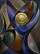 Stained Glass Prints - Dynamic Chalice Print by Ricardo Chavez-Mendez
