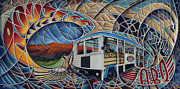 Albuquerque Paintings - Dynamic Route 66 II by Ricardo Chavez-Mendez