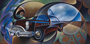Buick Paintings - Dynamic Route 66 by Ricardo Chavez-Mendez