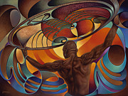 Astrology Sign Paintings - Dynamic Scorpio by Ricardo Chavez-Mendez