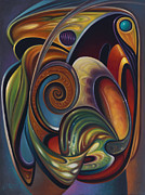 Multi Color Framed Prints - Dynamic Series #16 Framed Print by Ricardo Chavez-Mendez