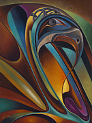 Eagle Painting Framed Prints - Dynamic Series #17 Framed Print by Ricardo Chavez-Mendez