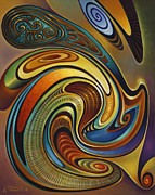 Multi Color Framed Prints - Dynamic Series 19 Framed Print by Ricardo Chavez-Mendez