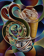 Pottery Painting Prints - Dynamic Still I Print by Ricardo Chavez-Mendez