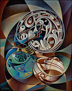 Native American Painting Originals - Dynamic Still Il by Ricardo Chavez-Mendez
