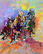 Jockey Mixed Media - Dynamic winner by Mary Armstrong