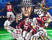 Paul Bear Bryant Framed Prints - Dynasty  Framed Print by Larry Silver