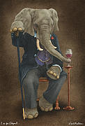 African Elephant Prints - E is for Elegant... Print by Will Bullas