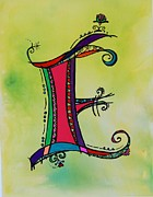 Fantasy Originals - E Monogram by Joyce Auteri