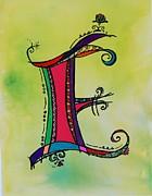 'e' Monogram Print by Joyce Auteri