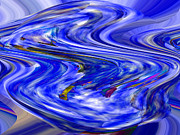 Interior Decorating Originals - E-Motion Blue by Cedric Hampton