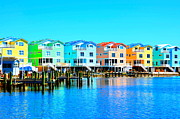 Colorful Houses Prints - E Sea Living Print by Debbi Granruth