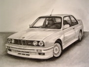 1980s Drawings - E30 M3 by Indaguis Montoto