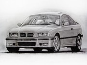 Motorsport Drawings - E36 M3 by Indaguis Montoto