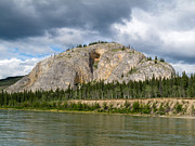 Bank; Clouds; Hills  Prints - Eagle Bluff at Yukon River Yukon T Canada Print by Stephan Pietzko