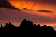 Geobob Prints - Eagle Crags Sunset and Silhouette near Springdale Utah Print by Robert Ford